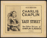 """Easy Street (Select Pictures, R-1920s). Title Lobby Card (11"""" X 14""""). Comedy"""