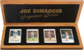 "Baseball Collectibles:Others, Joe DiMaggio and Mickey Mantle ""Signature Series"" Ceramic SignedCards Collection (3 Autographs)...."