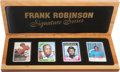 "Baseball Collectibles:Others, Frank Robinson and Willie McCovey ""Signature Series"" Ceramic SignedCards Collection (6 Autographs)...."