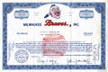 Baseball Collectibles:Others, 1963 Milwaukee Braves Original Stock Certificate....