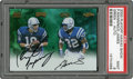 "Football Cards:Singles (1970-Now), 2000 Playoff Hawaii Show Signed Peyton Manning and Edgerrin James""Green"" PSA Mint 9...."
