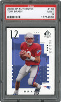 Football Cards:Singles (1970-Now), 2000 SP Authentic Tom Brady #118 PSA Mint 9....