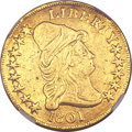 Early Eagles, 1801 $10 --Removed From Jewelry--NGC Details. VF. Breen-6843, Taraszka-25, BD-2, R.2....