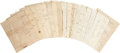 Autographs:Military Figures, Armstrong Family Collection of Naval Letters. Consisting of nearly twenty letters dating from 1822 through 1887, most letter...