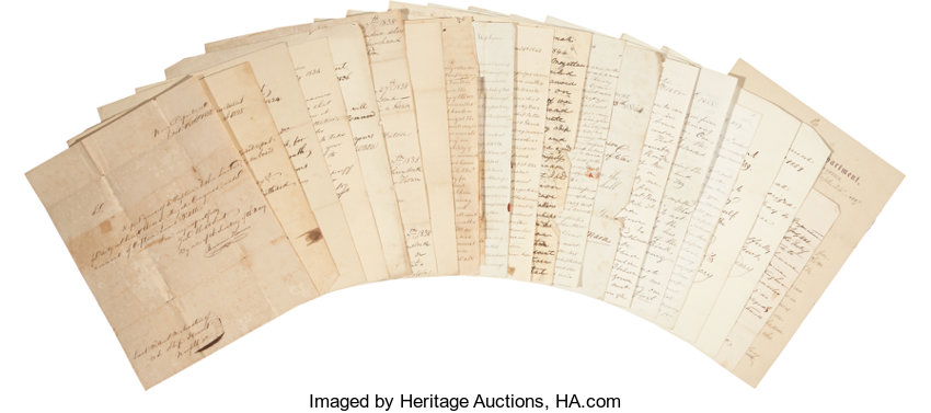 armstrong family collection of naval letters consisting of lot