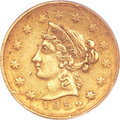 Territorial Gold, 1852 $10 Wass Molitor Ten Dollar, Large Head, Wide Date XF40 PCGS.K-4, R.5....