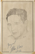 "Boxing Collectibles:Autographs, Max Baer Signed Original Artwork ""Raitt Collection""...."