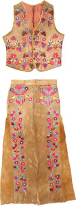 Other, A SANTEE SIOUX QUILLED HIDE SUIT. c. 1890... (Total: 2 Items)