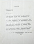 "Autographs:Celebrities, Albert Einstein Typed Letter Signed ""A. Einstein"". One page,8.5"" x 11"", n.p., April 14, 1944, on Einstein's personal bl..."