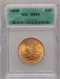 1910 $10 MS63 ICG. NGC Census: (812/501). PCGS Population (750/294). Mintage: 318,500. Numismedia Wsl. Price for problem...