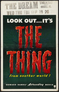"Movie Posters:Science Fiction, The Thing From Another World (RKO, 1951). Window Card (14"" X 22"").Science Fiction.. ..."