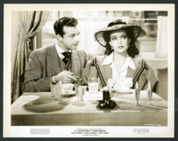 """Dick Powell and Linda Darnell in """"It Happened Tomorrow"""" (United Artists, 1944). Photos (6) (8"""" X 10""""..."""