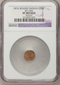 California Fractional Gold: , 1878/6 50C Indian Round 50 Cents, BG-1066, High R.5,--Holed--NGCDetails. XF. NGC Census: (0/1). PCGS Population (0/30). ...