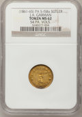Civil War Tokens, Civil War Sutler Token, J.A. Garman, 54 PA. VOLS., MS62 NGC. PAS-I5Ba....