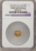 Expositions and Fairs, 1904 Louisiana Purchase Expo 1/2 Gold--Scratches--NGC Details. Unc.MO H-61-330....