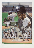 Baseball Collectibles:Others, Frank Thomas Signed Lithograph....