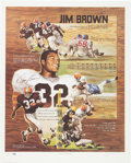 Football Collectibles:Others, Jim Brown Signed Lithograph....