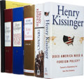 Books:Signed Editions, Henry Kissinger. Six Signed First Editions, including: DoesAmerica Need a Foreign Policy? (two copies in different ...(Total: 6 Items)