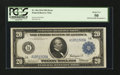 Error Notes:Double Denominations, Fr. 964/Fr. 904 $20/$10 1914 Double Denomination Federal Reserve Note PCGS About New 50....