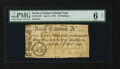 Colonial Notes:North Carolina, North Carolina April 4, 1748 40s PMG Good 6 Net....