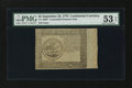 Colonial Notes:Continental Congress Issues, Continental Currency September 26, 1778 $5 Counterfeit Detector PMGAbout Uncirculated 53 EPQ....