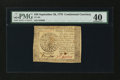 Colonial Notes:Continental Congress Issues, Continental Currency September 26, 1778 $40 PMG Extremely Fine40....