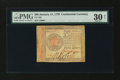 Colonial Notes:Continental Congress Issues, Continental Currency January 14, 1779 $80 PMG Very Fine 30 Net....