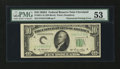 Error Notes:Obstruction Errors, Fr. 2011-D $10 1950A Federal Reserve Note. PMG About Uncirculated53.. ...