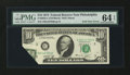 Error Notes:Foldovers, Fr. 2022-C $10 1974 Federal Reserve Note. PMG Choice Uncirculated64 EPQ.. ...