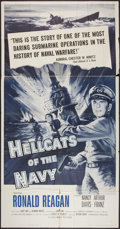 "Movie Posters:War, Hellcats of the Navy (Columbia, 1957). Three Sheet (41"" X 81"").War.. ..."