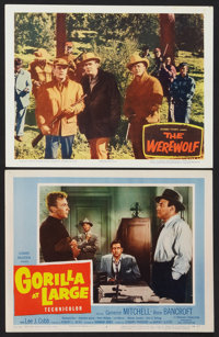 """Gorilla at Large Lot (20th Century Fox, 1954). Lobby Cards (2) (11"""" X 14""""). Thriller. ... (Total: 2 Items)"""