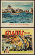 """Movie Posters:Adventure, Atlantis, the Lost Continent (MGM, 1961). Title Lobby Card &Lobby Card (11"""" X 14""""). Adventure.. ... (Total: 2 Items)"""