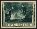"Movie Posters:Horror, Frankenstein (Universal, R-1938). Lobby Card (11"" X 14""). Horror....."