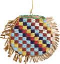 American Indian Art:Beadwork and Quillwork, A SIOUX BEADED HIDE POUCH. c. 1890...