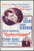 """Movie Posters:Hitchcock, Notorious (Selznick, R-1954). One Sheet (27"""" X 41""""). Hitchcock.. ..."""