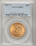 Liberty Eagles, 1907-S $10 MS62 PCGS....