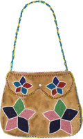 American Indian Art:Beadwork and Quillwork, A WESTERN GREAT LAKES BEADED HIDE HAND BAG. c. 1890...