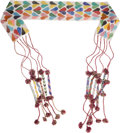 American Indian Art:Beadwork and Quillwork, A WESTERN GREAT LAKES LOOM-BEADED SASH. c. 1890...