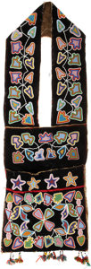 American Indian Art:Beadwork and Quillwork, A WESTERN GREAT LAKES BEADED CLOTH BANDOLIER BAG. c. 1890. ...