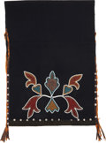 American Indian Art:Beadwork and Quillwork, A PRAIRIE BEADED WOOL BREECH CLOTH. c. 1905. ...