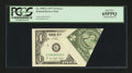 Error Notes:Foldovers, Fr. 1909-G $1 1977 Federal Reserve Note. PCGS Gem New 65PPQ.. ...
