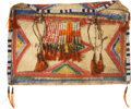 American Indian Art:Beadwork and Quillwork, A SIOUX PAINTED PARFLECHE ENVELOPE. c. 1890...