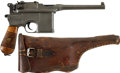 Military & Patriotic:WWI, Mauser Broomhandle Model 1896 Chinese Export Pistol and Holster.Caliber 7.63. Serial Number 378167....