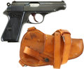 Military & Patriotic:WWII, Walter Model PP Pistol and Shoulder Holster. Cal. 7.65. Serial Number 975995....