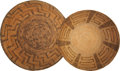 American Indian Art:Baskets, TWO PIMA COILED BOWLS. c. 1910... (Total: 2 Items)
