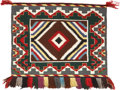 American Indian Art:Weavings, A NAVAJO SUNDAY SADDLE BLANKET. c. 1960...