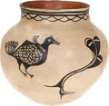 American Indian Art:Pottery, A COCHITI BLACK-ON-CREAM JAR. c. 1925...