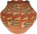 American Indian Art:Pottery, A ZIA POLYCHROME JAR. c. 1920...