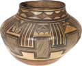 American Indian Art:Pottery, A POLACCA POLYCHROME STORAGE JAR. c. 1895...