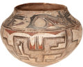 American Indian Art:Pottery, A ZUNI POLYCHROME STORAGE JAR. c. 1915...